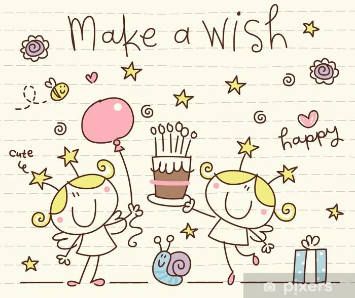 fototapete vector cute happy birthday • pixers® - wir
