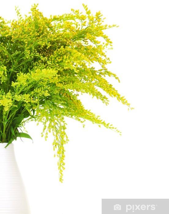 Vinylová fototapeta Čerstvým zeleným žlutých jarní květiny - Vinylová fototapeta