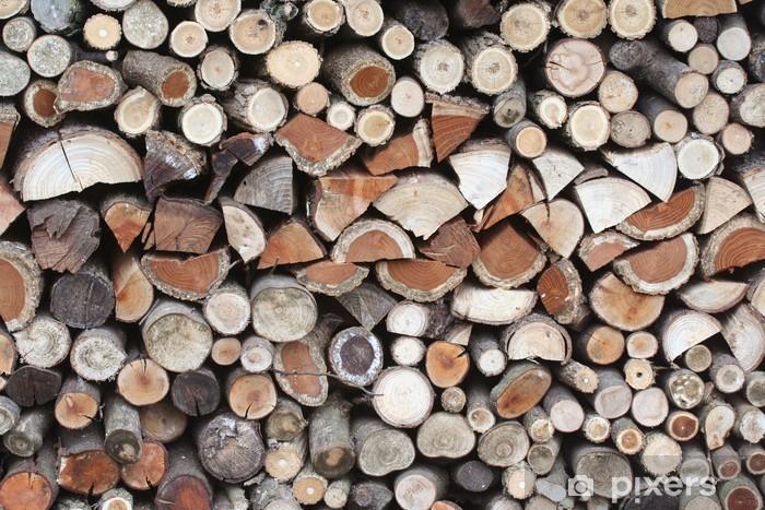 Nálepka Pixerstick Hromada dřeva - Ekologie