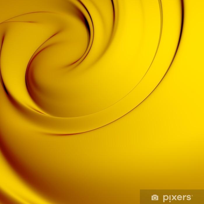 Fotomural Estándar Remolino abstracto amarillo. Fondos de series. - Fondos