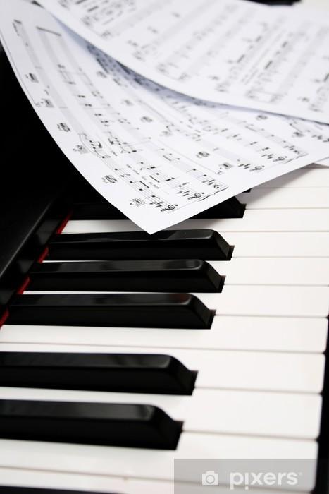 Papier peint vinyle Piano et de musique - Piano à queue