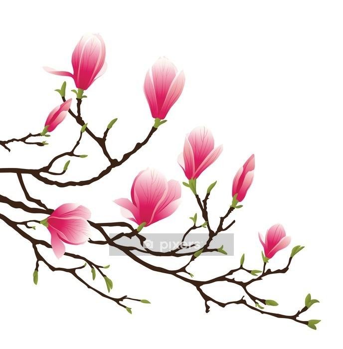 Vinilo para Pared Magnolia Blossom -