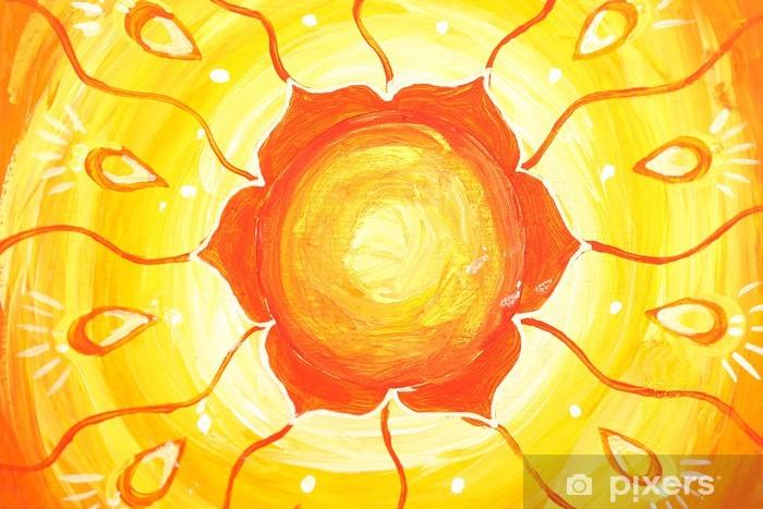 Papier Peint Gros Plan De Couleur Orange Vif Tableau Peint Avec Le
