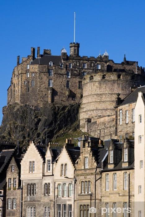 Vinilo Pixerstick Castillo de Edimburgo y Grassmarket - Temas