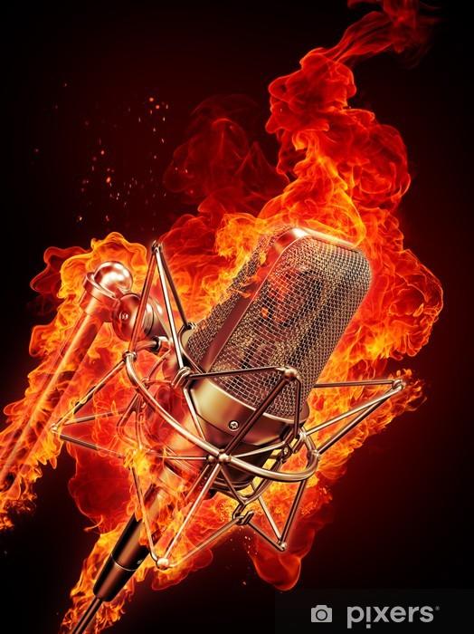 Pixerstick Dekor Mikrofonen är i brand - Hio hop