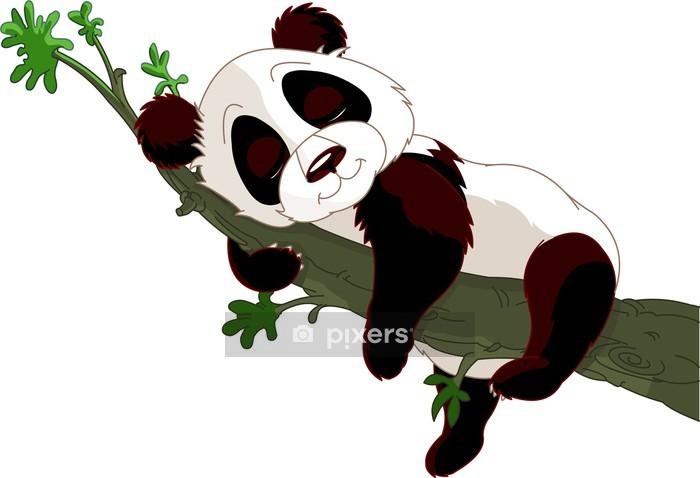 Naklejka na ścianę Sleeping Panda na gałęzi - Naklejki na ścianę