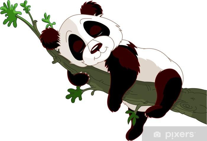 Vinilo Pixerstick Panda durmiendo en una rama - Vinilo para pared