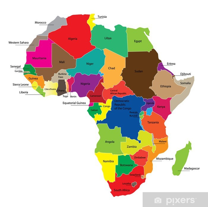 Kort Over Afrika Plakat Pixers Vi Lever For Forandringer
