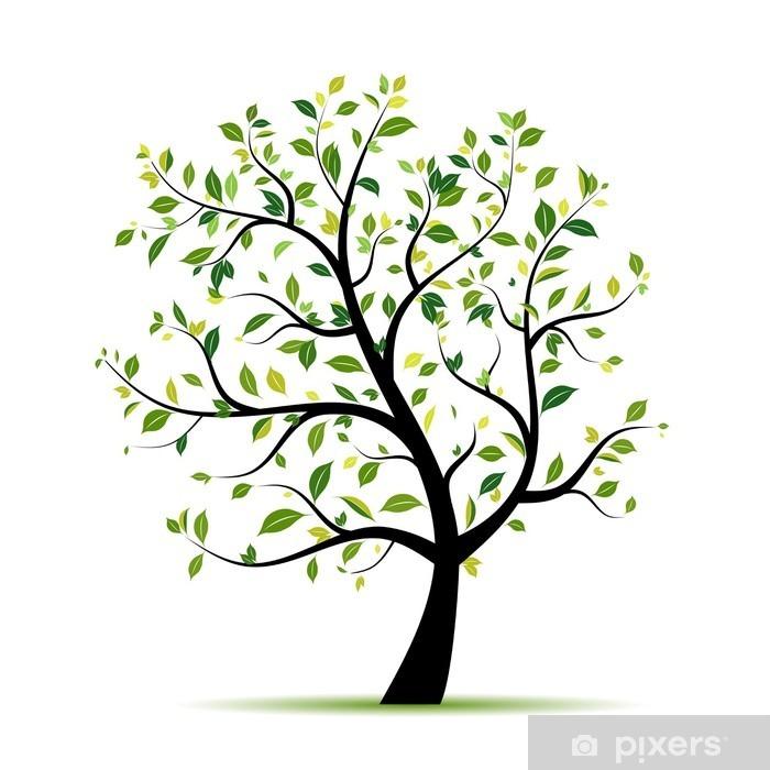 Fototapeta winylowa Wiosna zielony dla projektu - Naklejki na ścianę