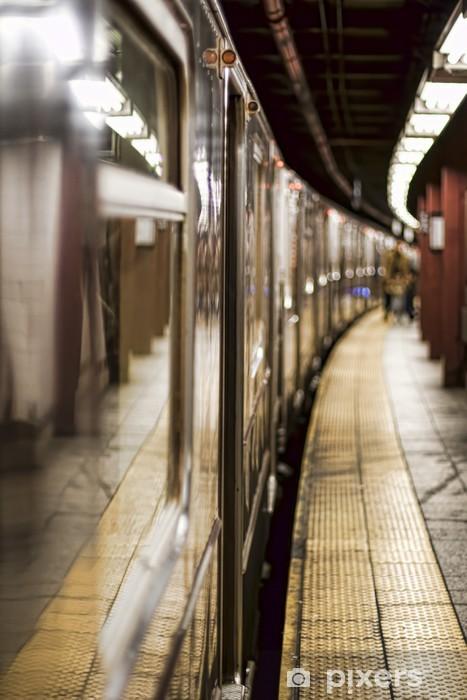 Pixerstick Sticker Metro trein op een station - Thema's