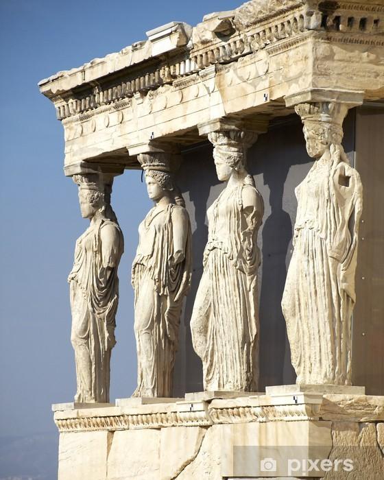 Fotomural Estándar Las Cariátides del templo, Erechteion Acrópolis de Atenas, Grecia - Temas