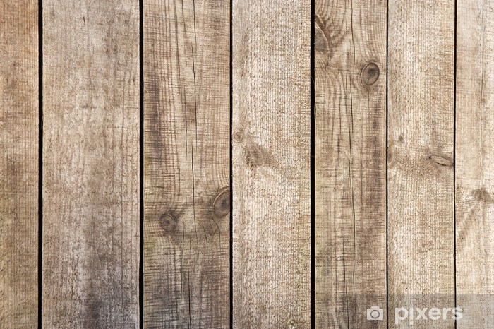 Verwonderend Fotobehang Muur van houten planken • Pixers® - We leven om te HN-84