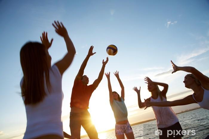 Lentopalloa rannalla Vinyyli valokuvatapetti - Volleyball