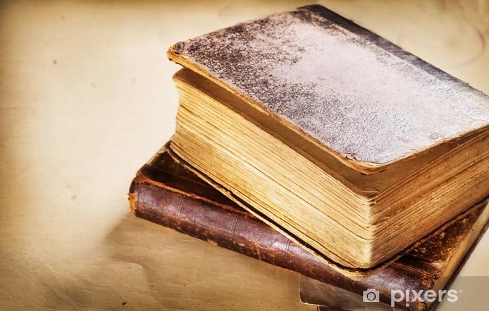 Vinyl-Fototapete Sehr altes Buch Großansicht - Texturen