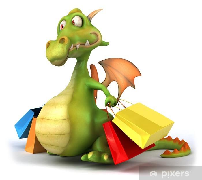 Poster Dragon et winkelen - Tekens en Symbolen