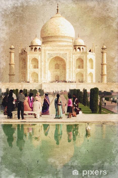 Fotomural Estándar Taj Mahal, la foto del estilo ancienne - Monumentos