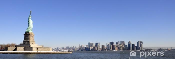 Naklejka Pixerstick Panorama nowy jork - Miasta amerykańskie