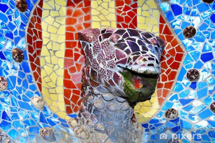 Naklejka Pixerstick Szczegółów Guell Park, Barcelona, Hiszpania - Miasta europejskie