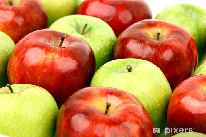 red and green apples Pixerstick Sticker - Fruit