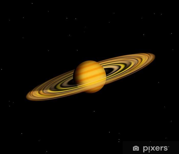Papier peint vinyle Planète avec des anneaux - Espace