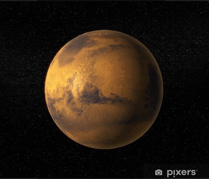 Naklejka Pixerstick Widok z Marsa - Planety