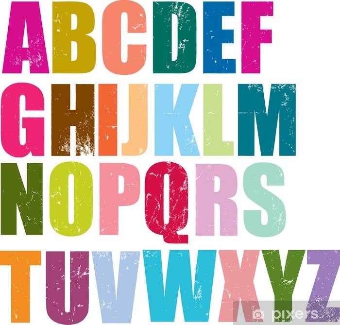 Sticker Pixerstick Alphabet de style typographique - Thèmes