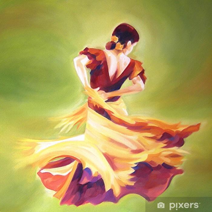 Fototapet av Vinyl Flamencodansare - Teman