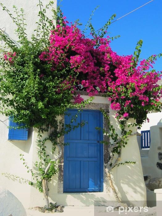 Nálepka Pixerstick Modré dveře - Prázdniny