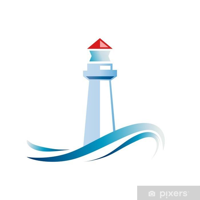 Carta Da Parati Logo Faro Su Sfondo Bianco Vector Pixers