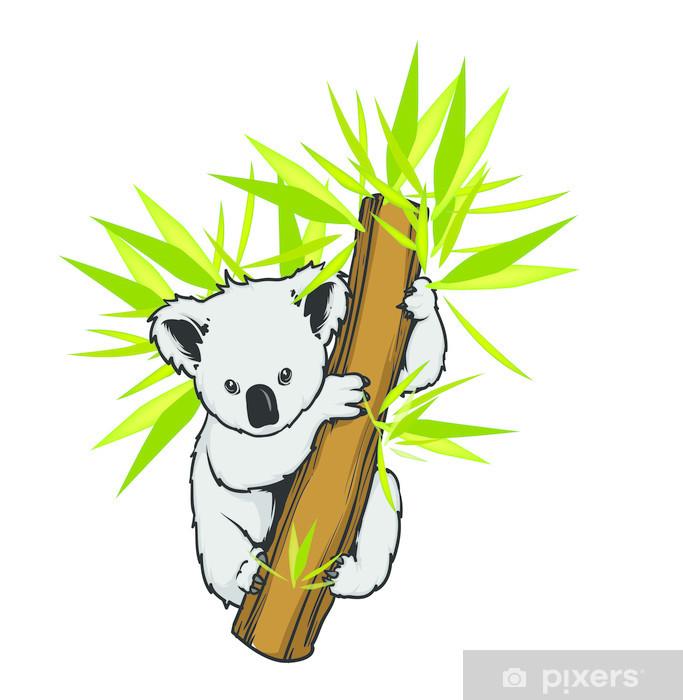 Koala in a tree vector Vinyl Wall Mural - Mammals