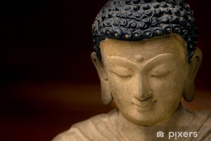 Papier peint vinyle Close-up image d'un visage de Bouddha en bronze, en provenance du Népal. - Thèmes
