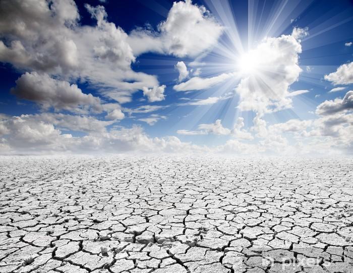 Papier peint vinyle Paysage désertique avec le ciel bleu - Ecologie