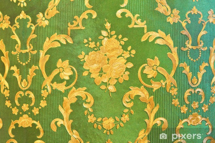 Behang Oud Groen.Fotobehang Oud Groen Behang Traditionele Thaise Stijl Pixers