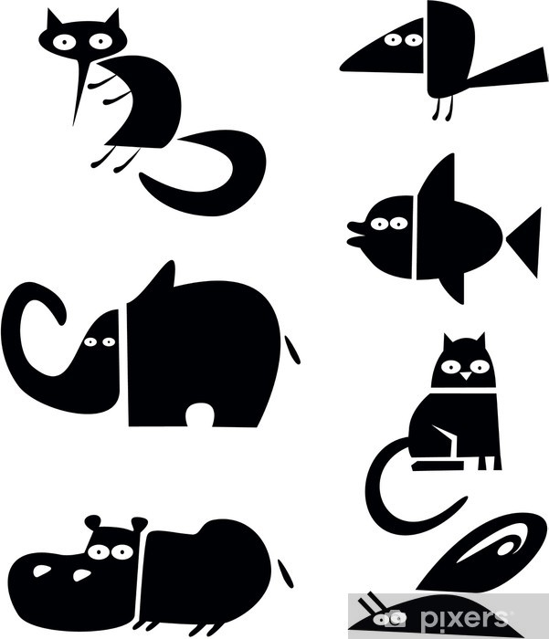 Papier Peint Animaux Noir Et Blanc Pixers Nous Vivons Pour