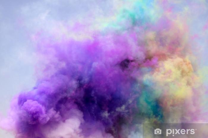 Vinyl Fotobehang Gekleurde rook -