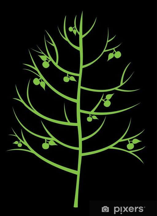 Sticker Pixerstick Arbre abstrait avec des pommes - Arbres