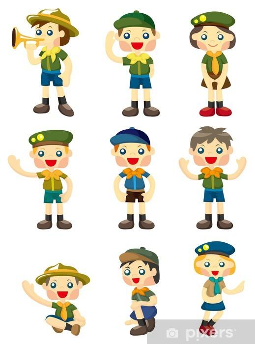 f2e70fd93bd3a4 Sticker Cartoon jongen / scout icoon meisje • Pixers® - We leven om ...