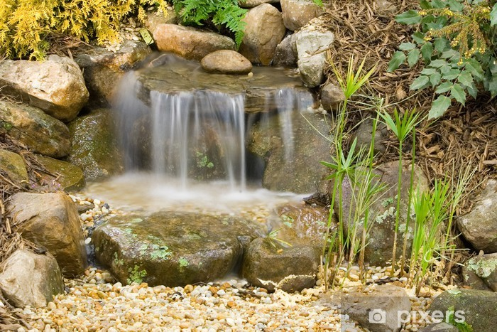 small garden waterfalls Pixerstick Sticker - Themes