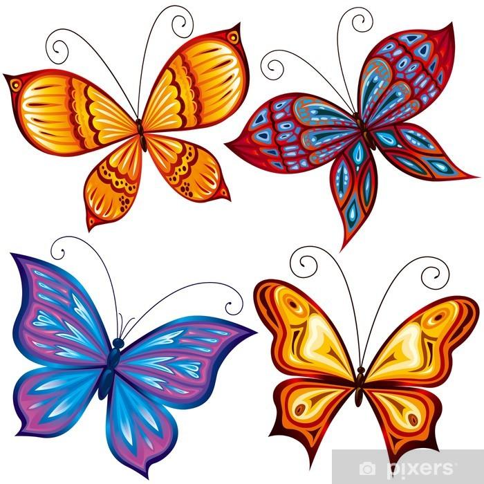 Naklejka Pixerstick Motyle - Pory roku