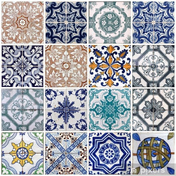 Papier peint vinyle Lisbon tiles - Carreaux