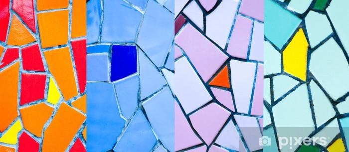 Naklejka Pixerstick Kolorowe mozaiki - Tekstury
