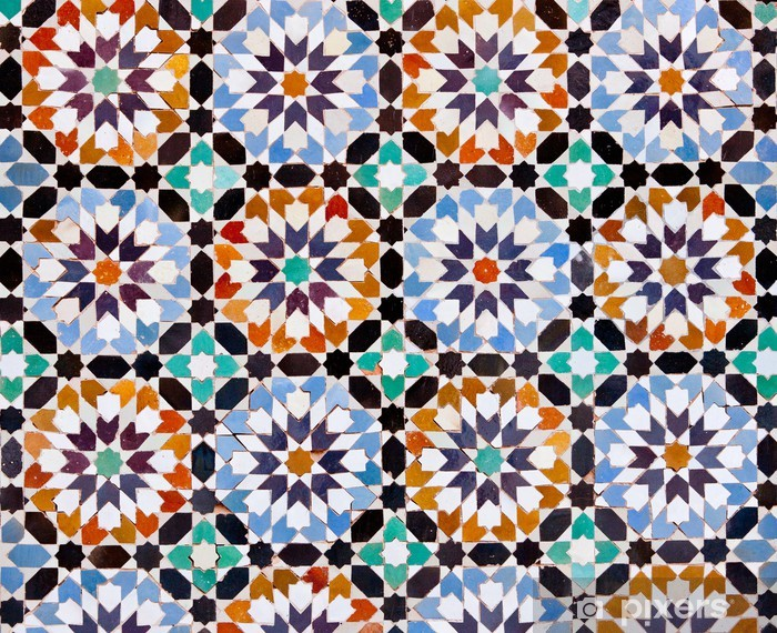 Moroccan Tiles in Marrakesh Vinyl Wall Mural - Themes