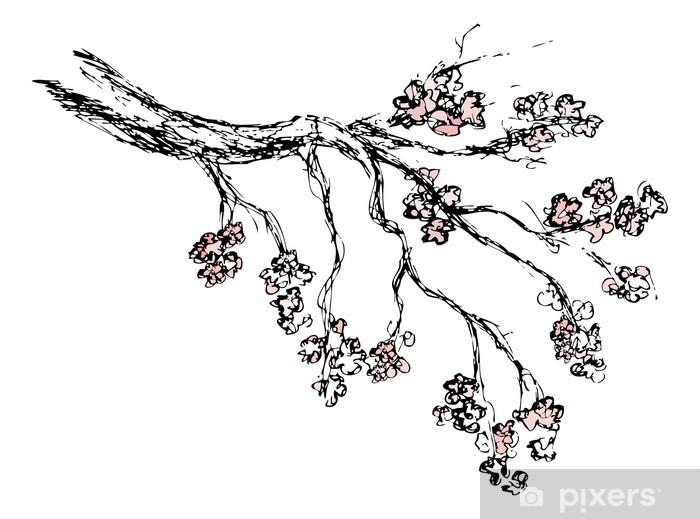 Bahar Sakura Cicegi Cizim Cikartmasi Pixerstick Pixers Haydi