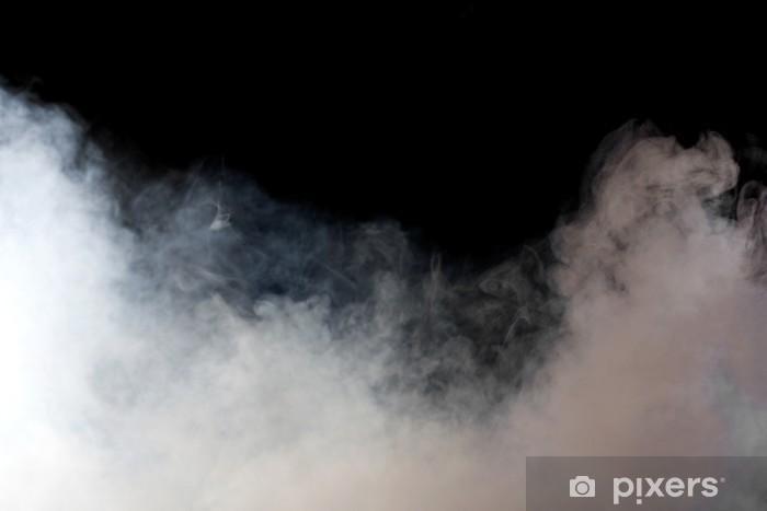 Sticker Pixerstick Fumée blanche sur fond noir. Isolé. - Thèmes