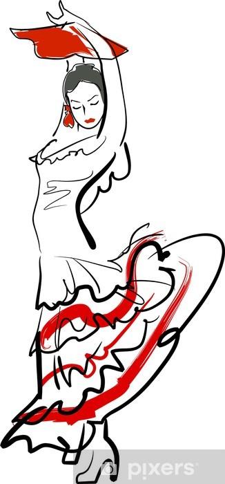 Naklejka Pixerstick Flamenco - Kobiety