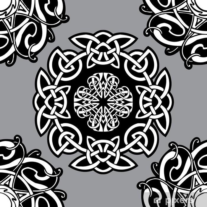Sticker Pixerstick Celtic vecteur motif ornemental. - Signes et symboles
