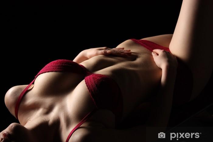 Fototapeta winylowa Erotyczne kobiece ciało - Bielizna