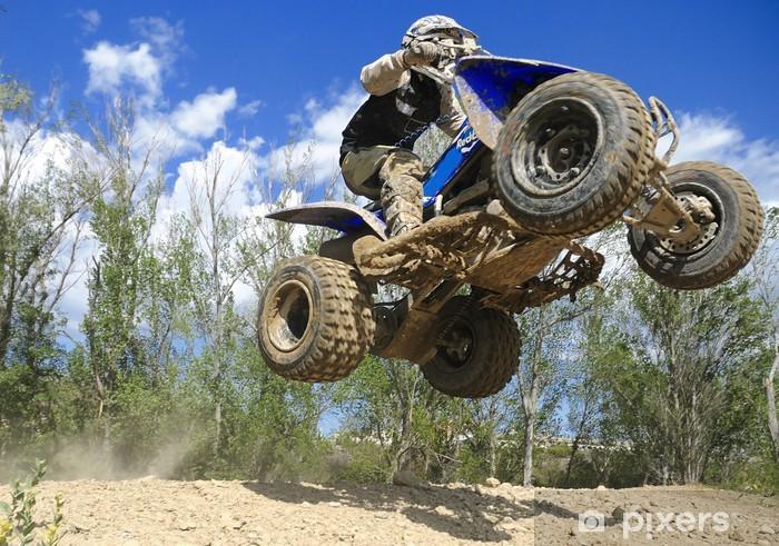 Fototapeta winylowa Niebieski jumping quad - Sporty ekstremalne