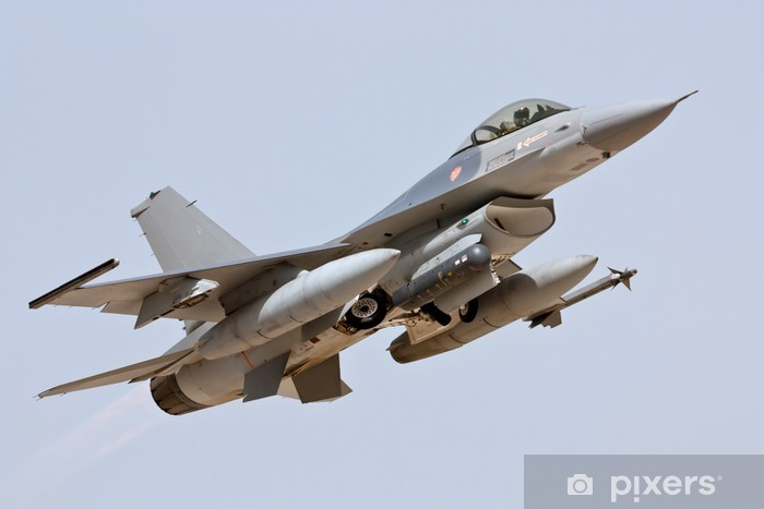 F-16 - ota pois Vinyyli valokuvatapetti -