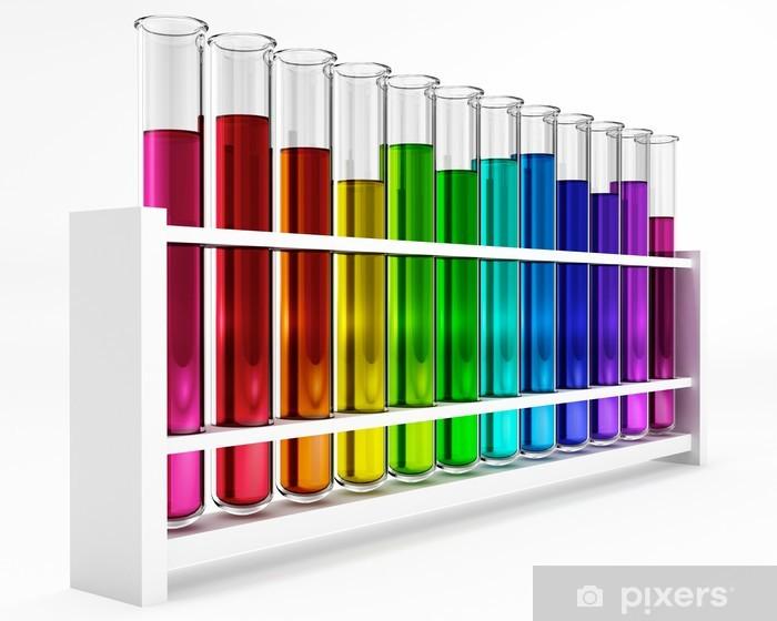Vinilo Pixerstick Tubos de ensayo - arco iris - color - color - Química - Accesorios